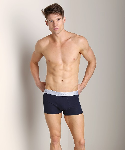 Calvin Klein Superior Cotton Trunk Blue Shadow