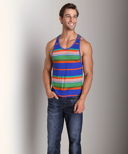 Go Softwear Groove Athletic Tank Top Cobalt/Orange