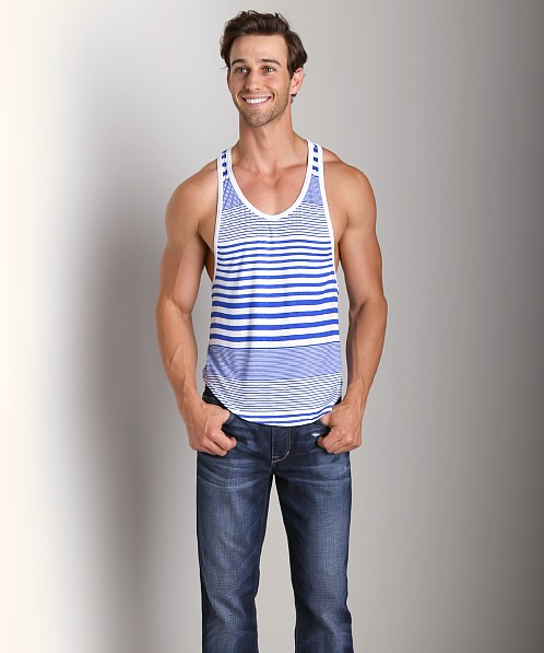 Go Softwear Groove Athletic Tank Top Cobalt/White