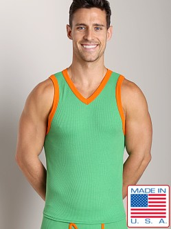 Go Softwear Pop Mod V-Neck Tank Top Green/Orange