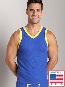 Go Softwear Pop Mod V-Neck Tank Top Royal/Lemon