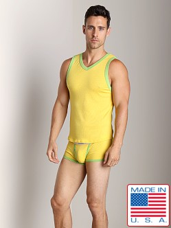 Go Softwear Pop Mod V-Neck Tank Top Yellow/Lime