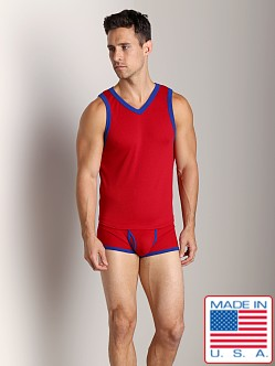 Go Softwear Pop Mod V-Neck Tank Top Red/Royal