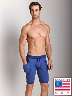Go Softwear 100% Cotton Yoga Short Cadet Blue