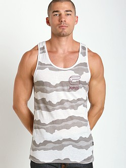 G-Star Yoshem Camo Stripes Tank Top White Heather