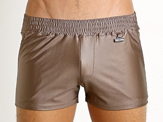 Modus Vivendi Elegant Glossy Swim Short Dusty Brown