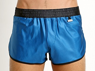 Modus Vivendi Elegant Glossy Side Split Swim Short Cobalt/Black