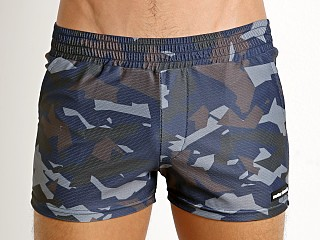 Modus Vivendi Perforated Camo Swim Short Blue Camo
