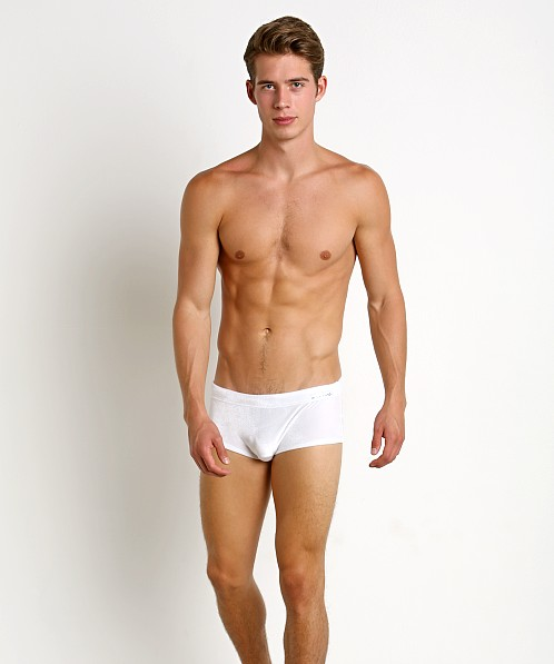 Modus Vivendi Velvet-Look Drawstring Swim Trunk White