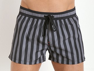Diesel Coralrif-E Swim Shorts Black/Grey Stripe