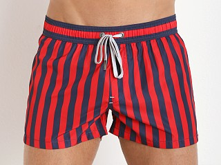 Diesel Coralrif-E Swim Shorts Red/Navy Stripe