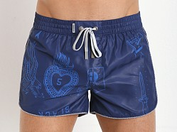 Diesel Reef-30-E Swim Shorts Navy Blue