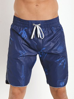 Diesel Deck-E Swim Shorts Navy Blue