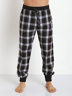 Diesel Varsity Patchboy Lounge Pants Black Plaid