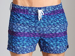 2xist School Of Fish Ibiza Swim Shorts Estate Blue