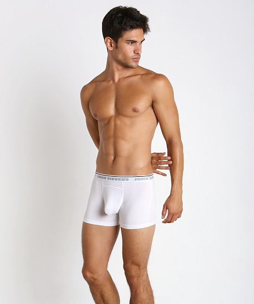 John Sievers Natural Pouch Boxer Briefs White