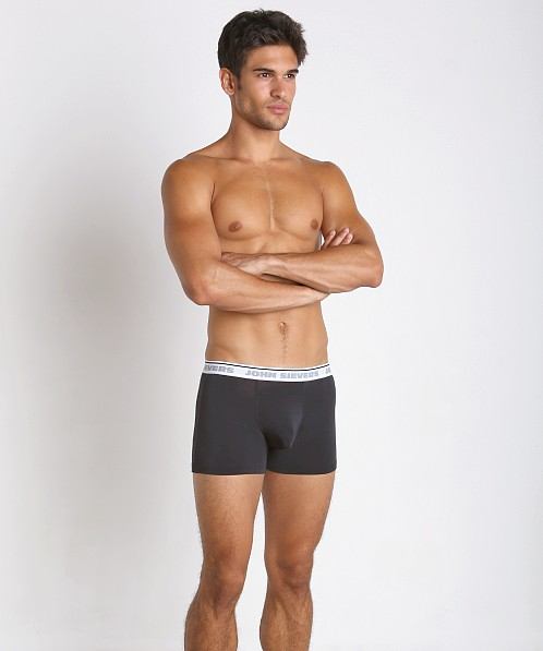 John Sievers Natural Pouch Boxer Briefs Black