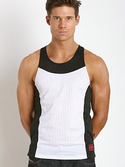 Jack Adams Air Tank Top White/Black