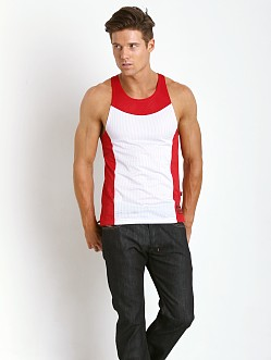 Jack Adams Air Tank Top White/Red