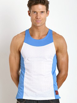 Jack Adams Air Tank Top White/Sky