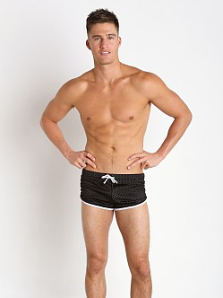Jack Adams Air Mesh Track Short Black/White