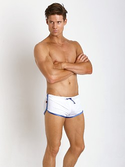 Jack Adams Air Mesh Track Short White/Blue