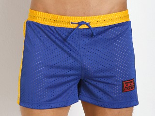 Jack Adams Air Mesh Gym Short Royal/Yellow