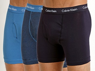 Calvin Klein Cotton Stretch Boxer Brief 3-Pack Magna/Stripe/Fed