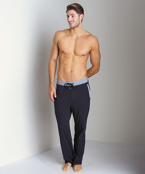 Hugo Boss Cotton Polyester Lounge Pants Navy