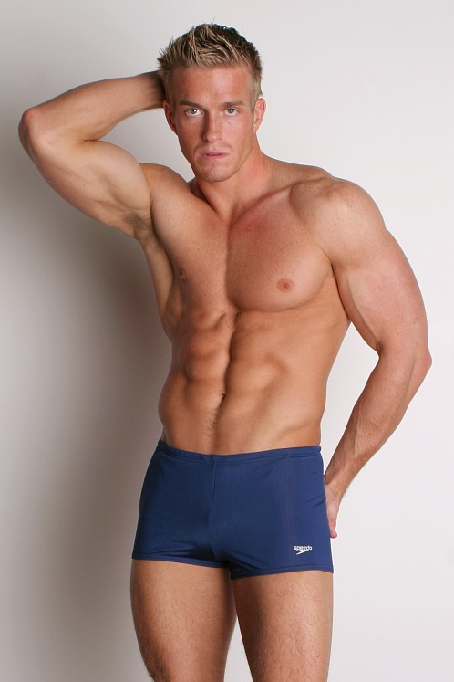 Speedo Lunar Lycra Square Cut Navy