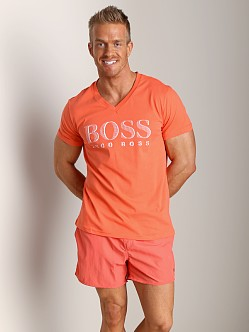 Hugo Boss V-Neck Shirt Orange