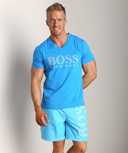 Hugo Boss V-Neck Shirt Blue