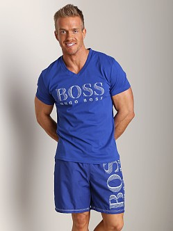 Hugo Boss V-Neck Shirt Royal