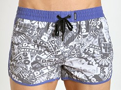 Diesel Pop Art Reef-30 Swim Shorts Black/White