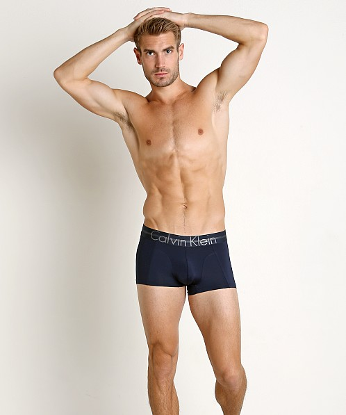 Calvin Klein Focused Fit Low Rise Trunk Blue Shadow