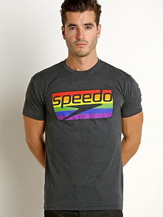 Speedo Rainbow Pride Tee Grey/Rainbow