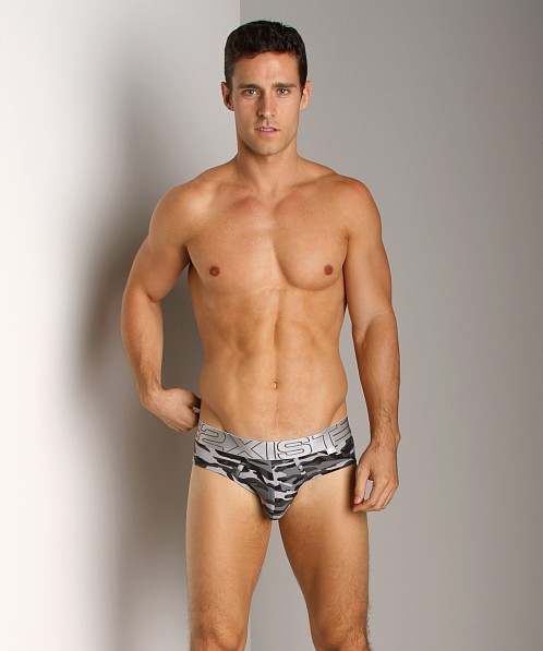 2xist Military No-Show Brief Black Camo