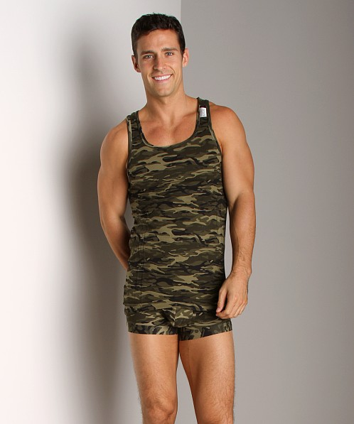2xist Military Tank Top Green Camo