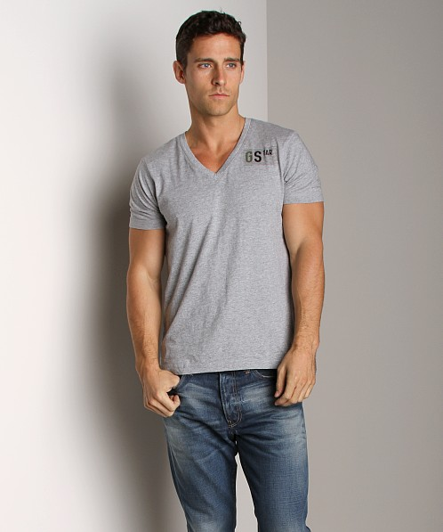 G-Star Withnail V-Neck Shirt Grey Heather
