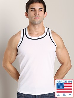LASC Dry Fit Muscle Tank White