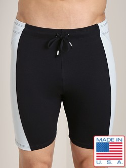 LASC Short Gym Tight Black/Silver