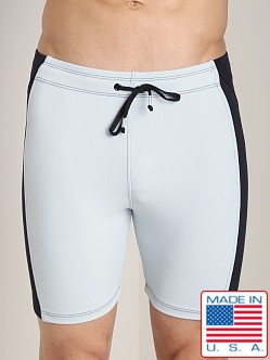 LASC Short Gym Tight Silver/Black