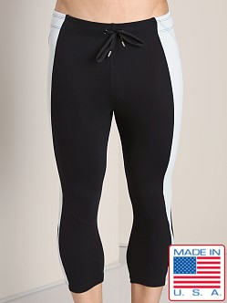 LASC 3/4 Length Gym Tight Black/Silver