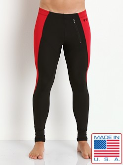 LASC Full Length Triangle Tight Black/Red