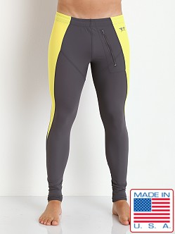 LASC Full Length Triangle Tight Grey/Yellow