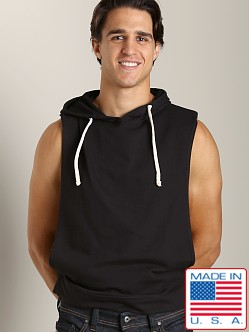 LASC French Terry Sleeveless Hoody Black