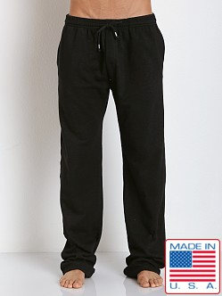 LASC French Terry Cotton/Spandex Workout Pant Black