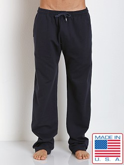 LASC French Terry Cotton/Spandex Workout Pant Navy