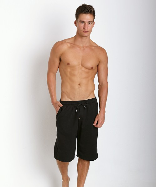 LASC French Terry Cotton/Spandex Workout Short Black