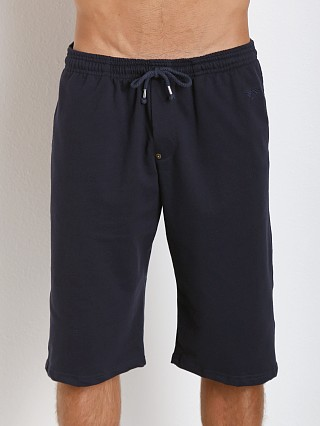 Complete the look: LASC French Terry Cotton/Spandex Workout Short Navy